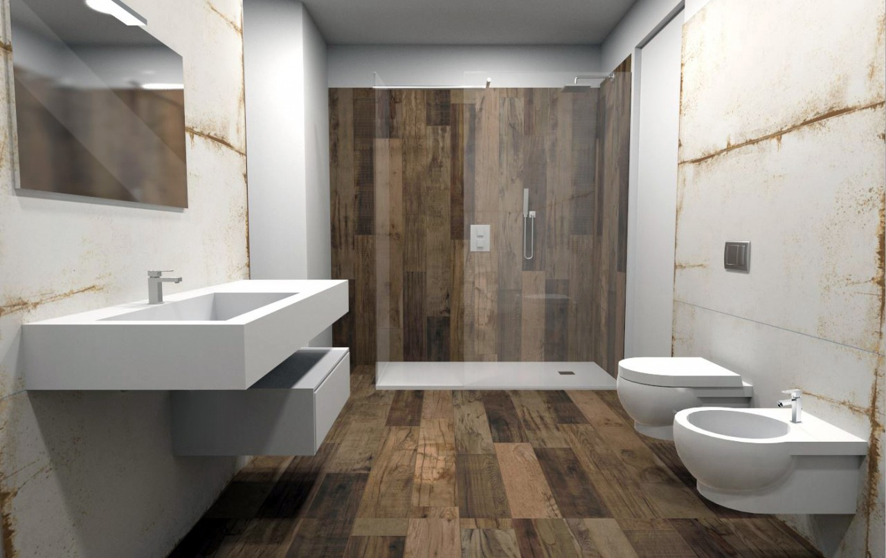Bagno Con Gres Effetto Legno ~ idee di design per la casa